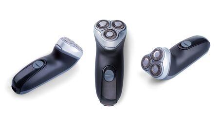Shaving machine isolated on white photo