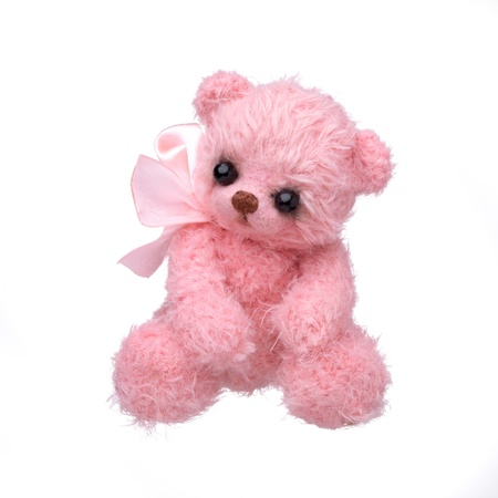 vintage teddy bears: Teddy bear in classic vintage style isolated on white background