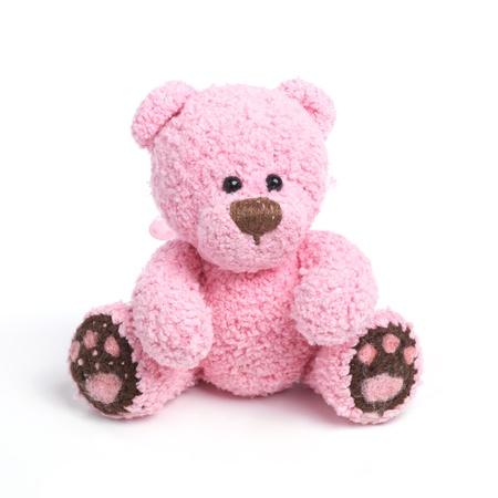 oso: Oso de peluche en el estilo de �poca cl�sica aisladas sobre fondo blanco