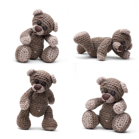 teddy bear love: Teddy bear in classic vintage style isolated on white background