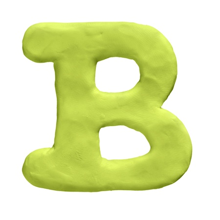 Plasticine letter isolated on a white background Stock Photo - 17468085