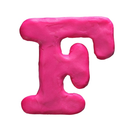 Plasticine letter isolated on a white background Stock Photo - 17468096