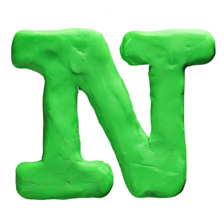 Plasticine letter isolated on a white background photo