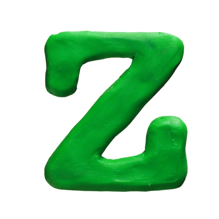 Plasticine letter isolated on a white background Stock Photo - 17468093