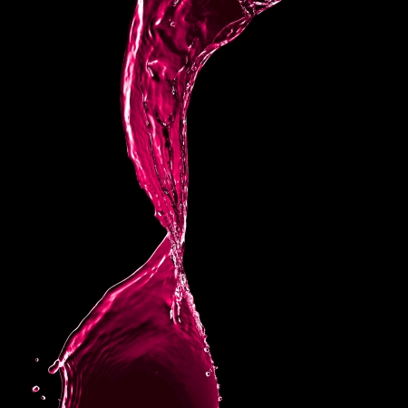 pink splash isolated on black