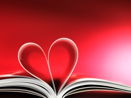 pages of a book curved into a heart shape Stock Photo - 17604322
