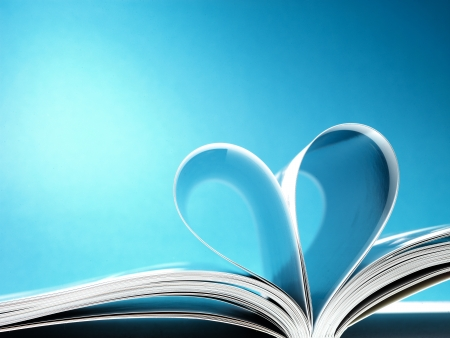 pages of a book curved into a heart shape Stock Photo - 17604337