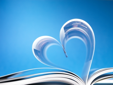 pages of a book curved into a heart shape Stock Photo - 17604333
