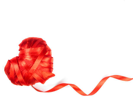 heart made of red ribbon Stock Photo - 17604272