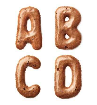 cookie alphabet letter Stock Photo - 18730654