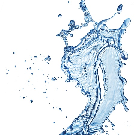 water splash isolated on white photo