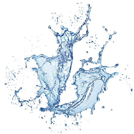 blue water splash isolated on white background Stock Photo - 18769880