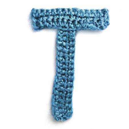 letter of knit handmade alphabet
