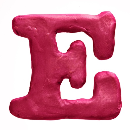 Plasticine letter isolated on a white background Stock Photo - 18840180