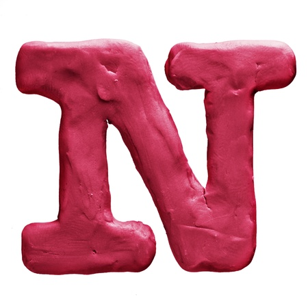 Plasticine letter isolated on a white background