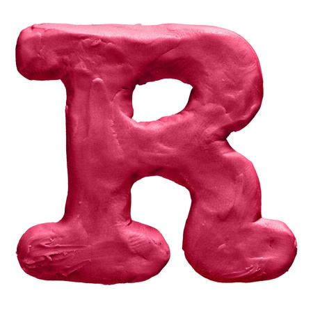 Plasticine letter isolated on a white background Stock Photo - 18840155