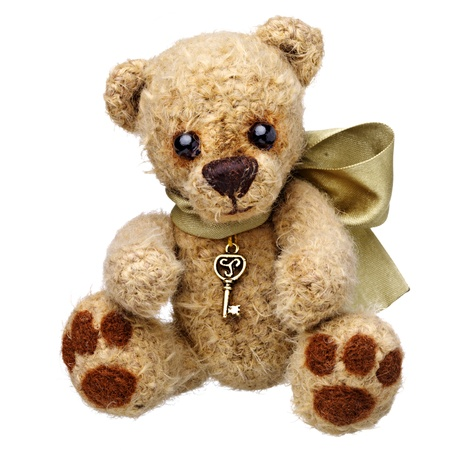 teddybear: Teddy bear in classic vintage style isolated on white background