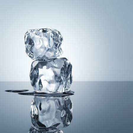 melting ice: ice cubes minimalistic background