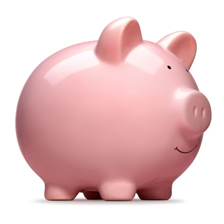 cuenta bancaria: rosa hucha aislado sobre fondo blanco