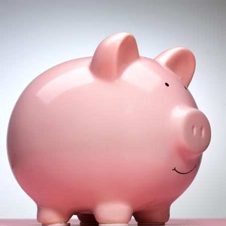 bankkonto: Sparschwein, Seitenansicht