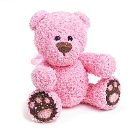 oso blanco: Cl?sico oso de peluche Foto de archivo