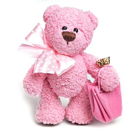 stuffed toys: Classic teddy bear Stock Photo