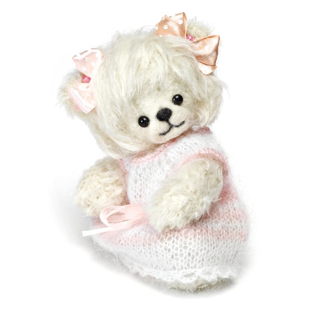 Classic teddy bear on white background photo