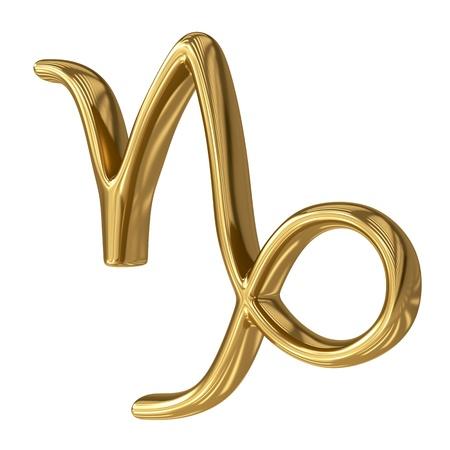 alpha: Horoscope: golden sign of the zodiac - Capricorn Stock Photo