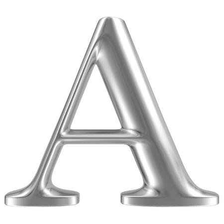 Aluminium font letter A