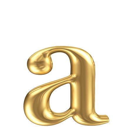 solid figure: Oro opaco lettera minuscola una collezione di font di gioielli