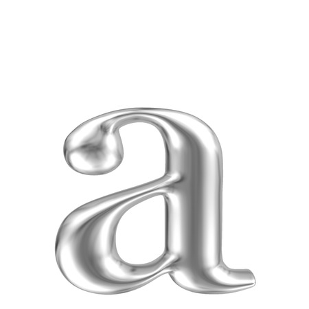 chrome letters: Aluminium font lorewcase letter a