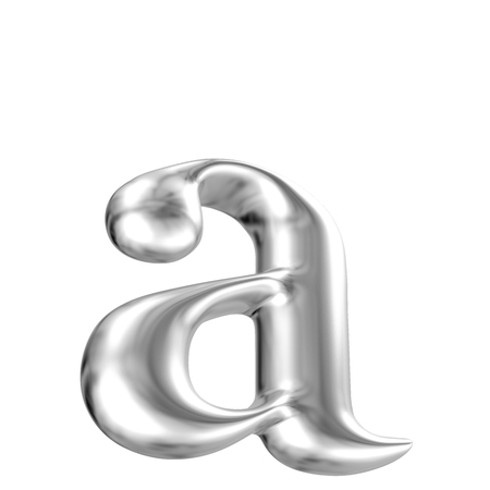 Aluminium font lorewcase letter a in perspective, bootom view photo