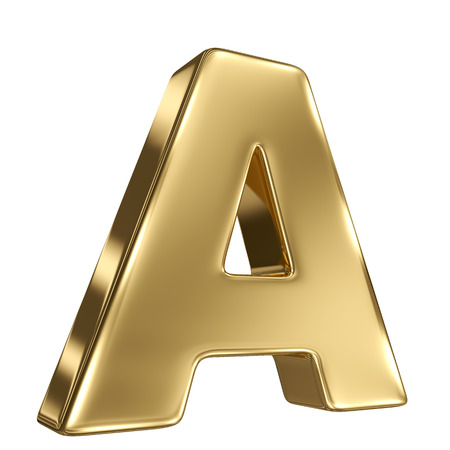 goldbars: Letter A from gold solid alphabet