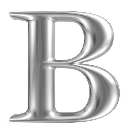 Aluminium font letter B