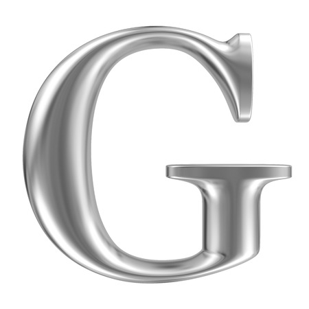 Aluminium font letter G Stock Photo