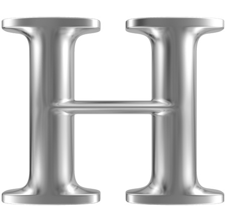 Aluminium font letter H Stock Photo