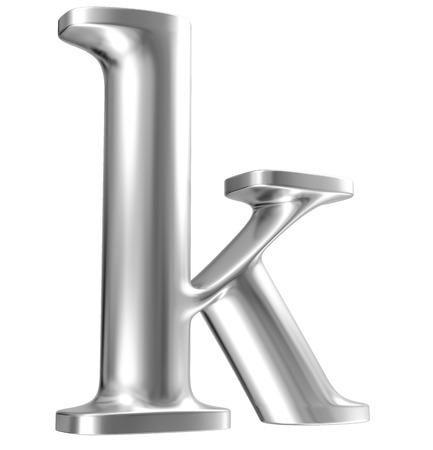 chrome letters: Aluminium font lorewcase letter in perspective