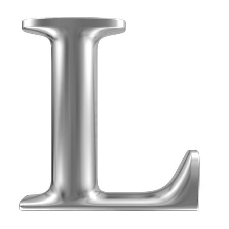 inox: Aluminium font letter L Stock Photo