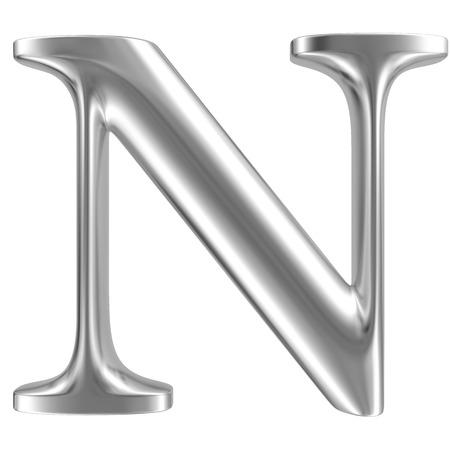 inox: Aluminium font letter N
