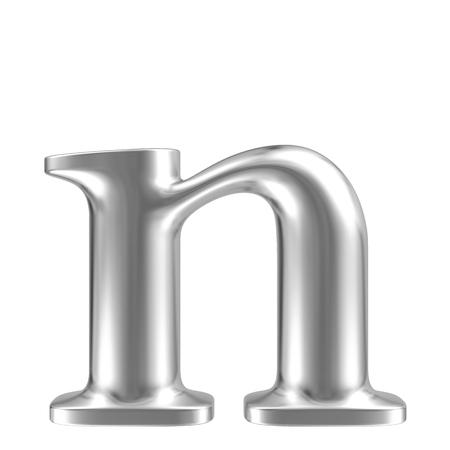 letras cromadas: Aluminio fuente lorewcase letra n