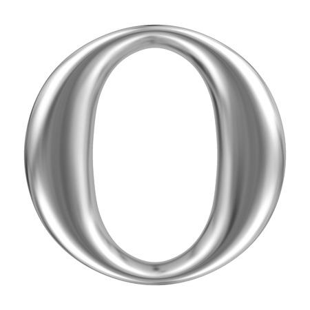 Aluminium font letter O Stock Photo