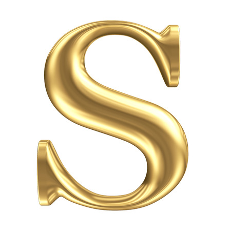 alphabet: Goldene matt Buchstaben S, Schmuck font Sammlung