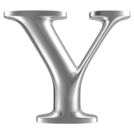 inox: Aluminium font letter Y