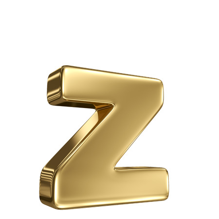 Letter z from gold solid alphabet photo