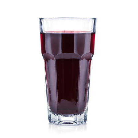 tall glass: Red berries fresh and healthy juice in a tall glass isolated on white. Bar concept.