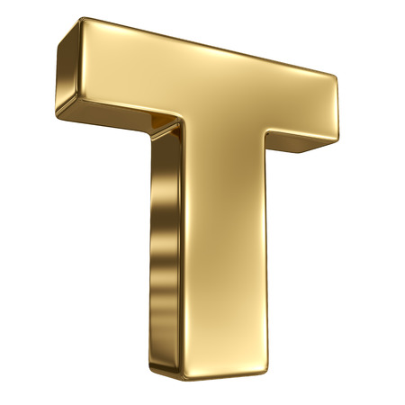 goldbars: Letter T from gold solid alphabet