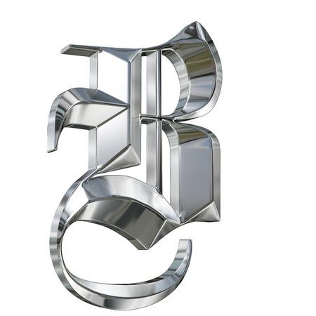 ドイツのゴシック様式アルファベット フォントの金属パターンの手紙。文字 B