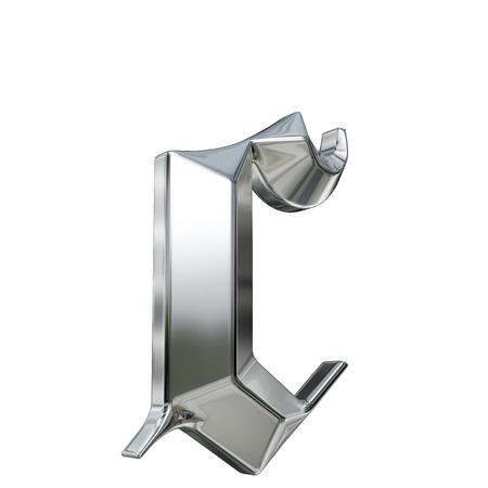 金属は、ドイツのゴシック様式アルファベットのフォントの文字をパターン化。文字 c