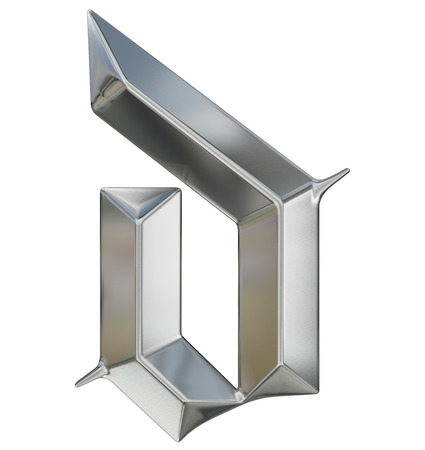 metallic letters: Metallic patterned letter of german gothic alphabet font. Letter d