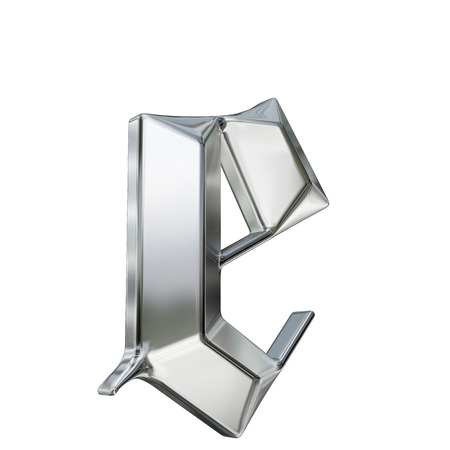 金属は、ドイツのゴシック様式アルファベットのフォントの文字をパターン化。E